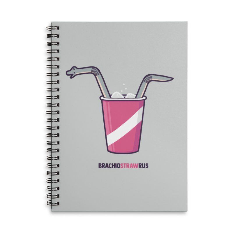 Dinostraw Accessories Lined Spiral Notebook by Randyotter