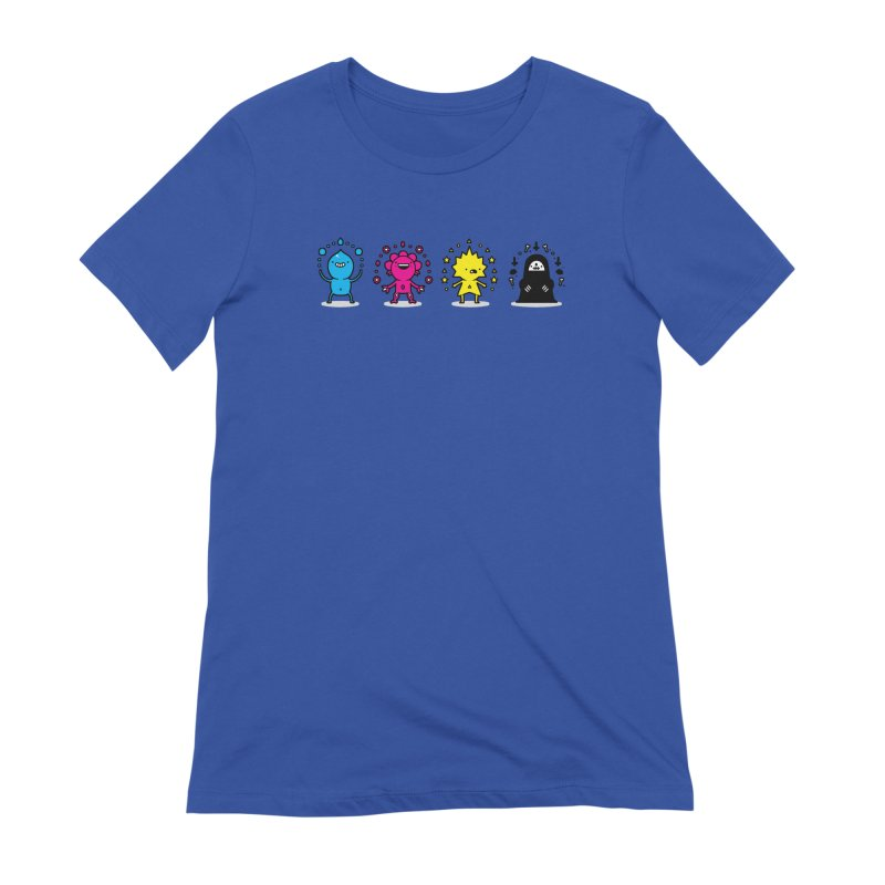 CMYK Women's Extra Soft T-Shirt by Randyotter
