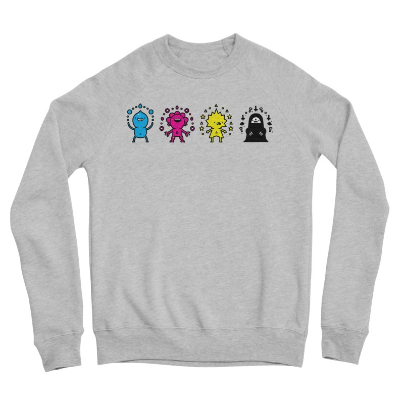 CMYK Men's Sponge Fleece Sweatshirt by Randyotter
