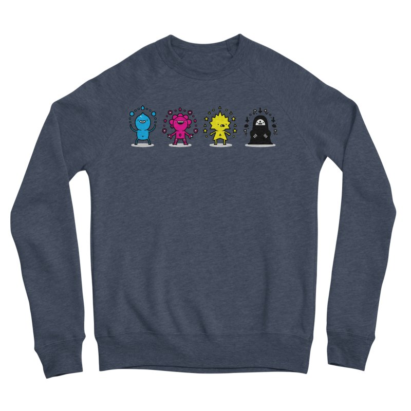 CMYK Men's Sponge Fleece Sweatshirt by Randyotter
