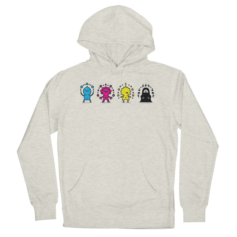 CMYK Women's French Terry Pullover Hoody by Randyotter