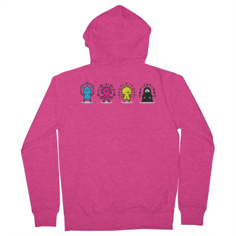 CMYK Women's French Terry Zip-Up Hoody by Randyotter
