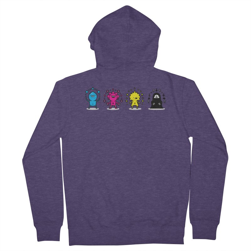 CMYK Men's French Terry Zip-Up Hoody by Randyotter