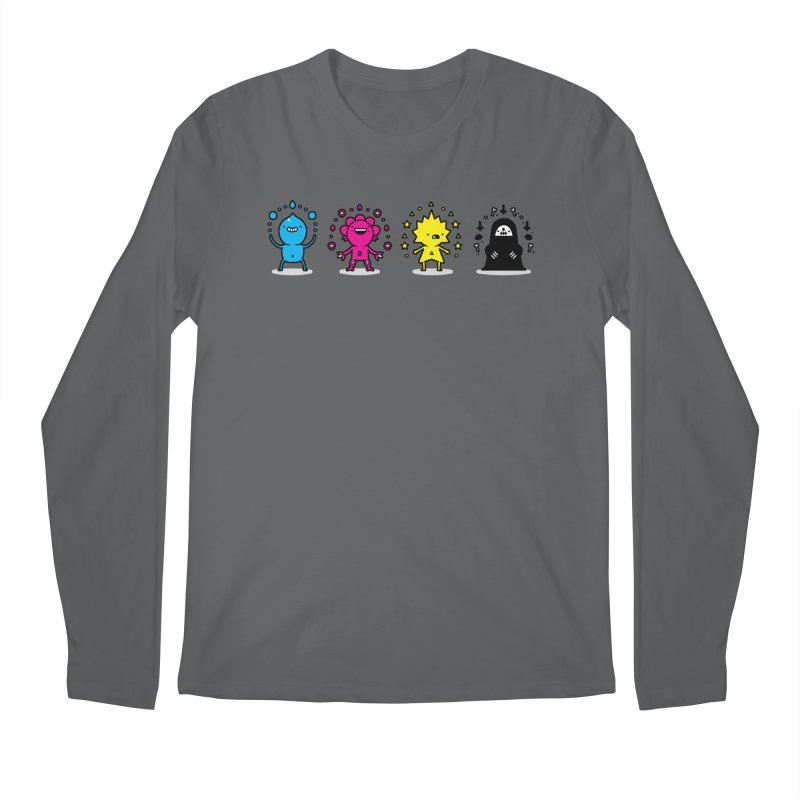 CMYK Men's Regular Longsleeve T-Shirt by Randyotter