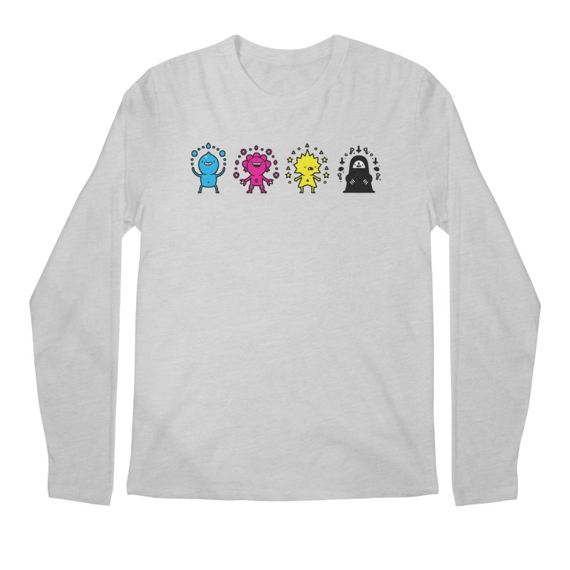 CMYK Men's Regular Longsleeve T-Shirt by Randyotter