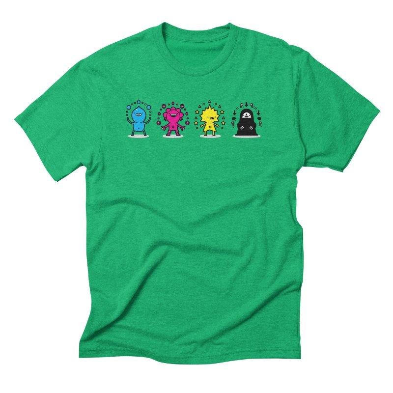 CMYK Men's Triblend T-Shirt by Randyotter