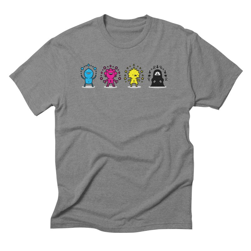 CMYK Men's Triblend T-Shirt by Randyotter