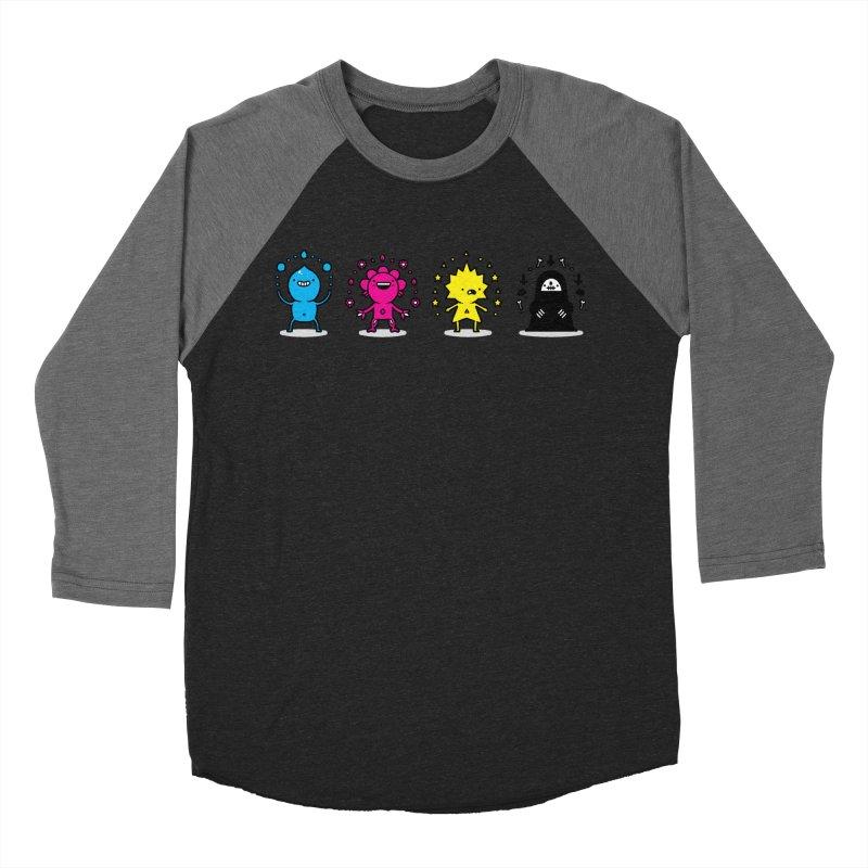 CMYK Women's Baseball Triblend Longsleeve T-Shirt by Randyotter