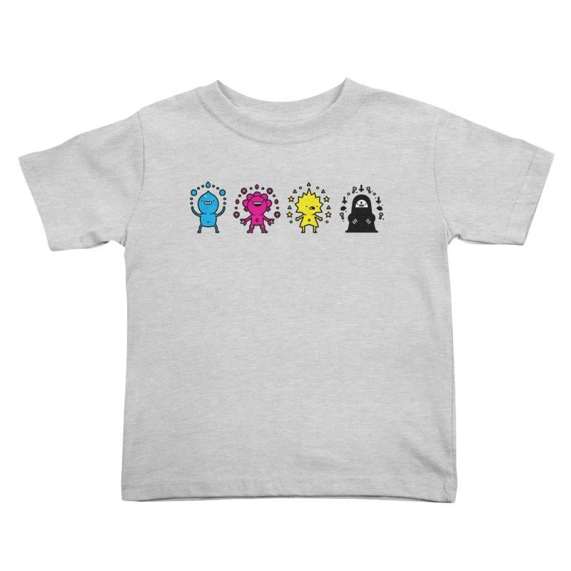 CMYK Kids Toddler T-Shirt by Randyotter