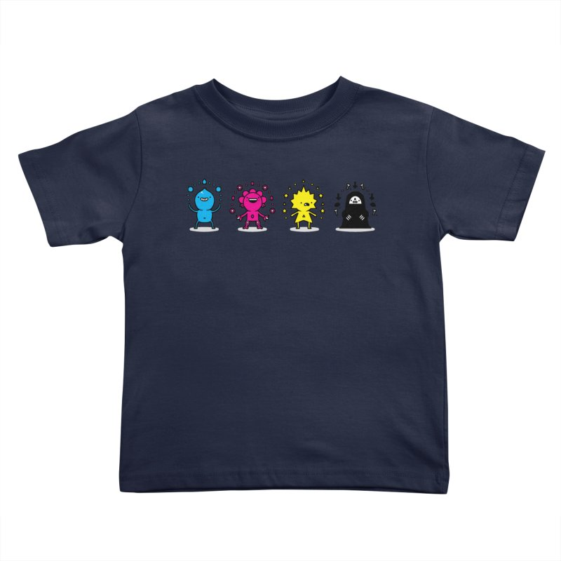 CMYK Kids Toddler T-Shirt by Randyotter
