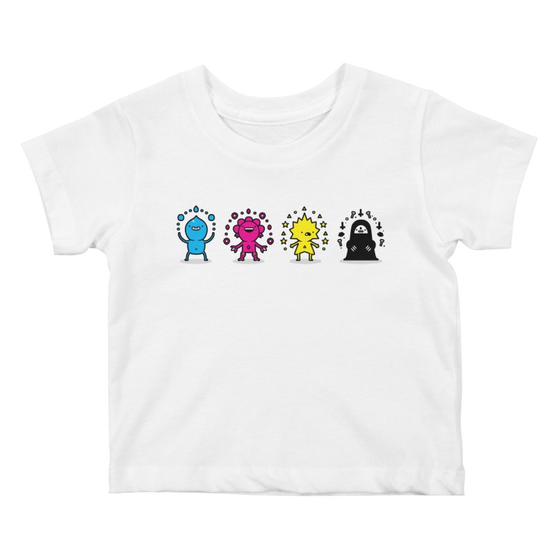CMYK Kids Baby T-Shirt by Randyotter