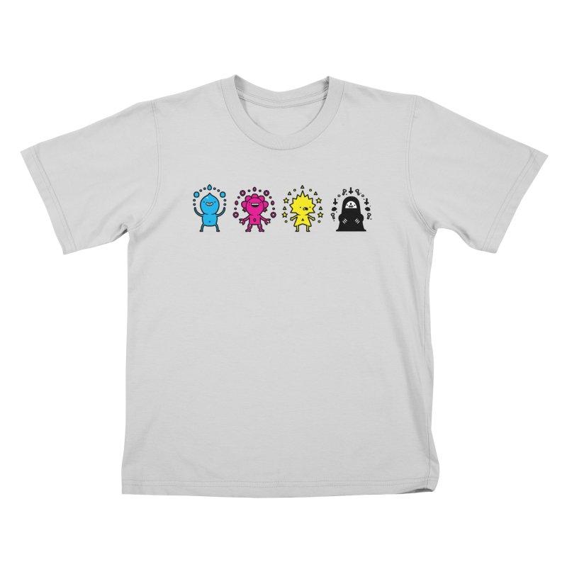 CMYK Kids T-Shirt by Randyotter
