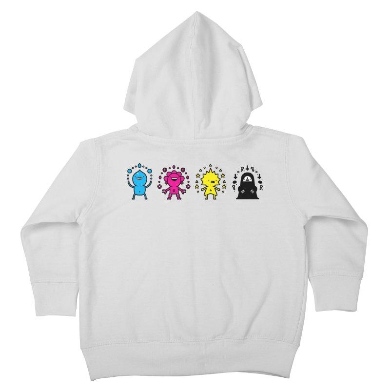 CMYK Kids Toddler Zip-Up Hoody by Randyotter