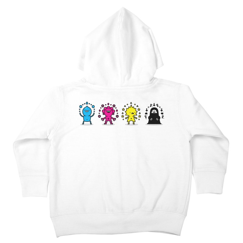 CMYK Kids Toddler Zip-Up Hoody by Randyotter