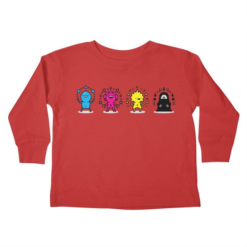CMYK Kids Toddler Longsleeve T-Shirt by Randyotter