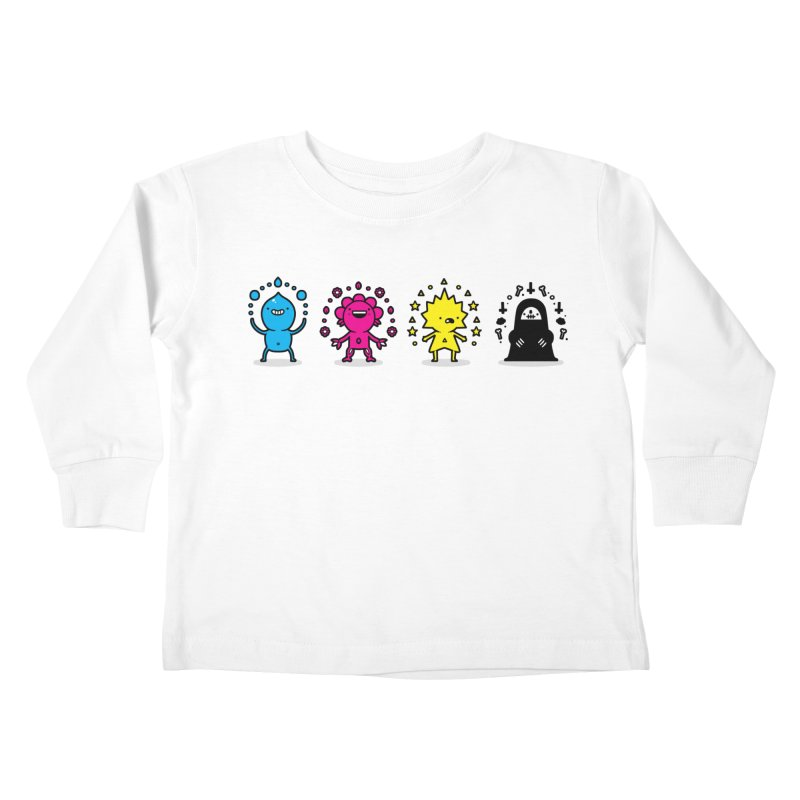 CMYK Kids Toddler Longsleeve T-Shirt by Randyotter