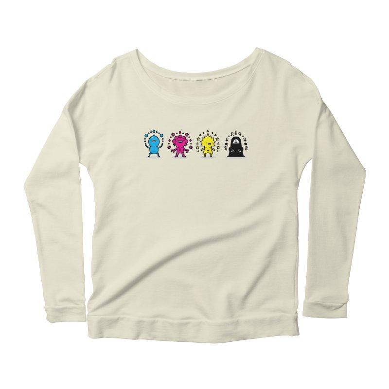CMYK Women's Scoop Neck Longsleeve T-Shirt by Randyotter