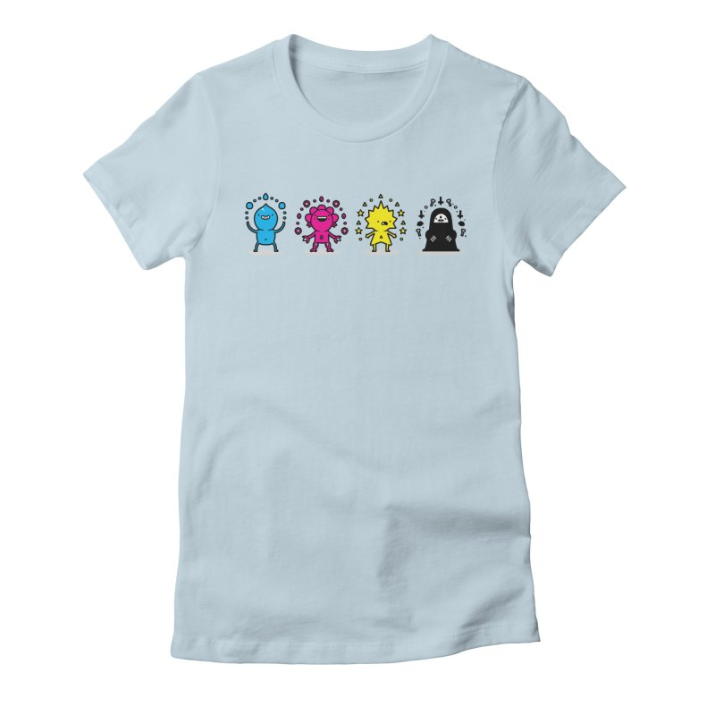 CMYK Women's Fitted T-Shirt by Randyotter