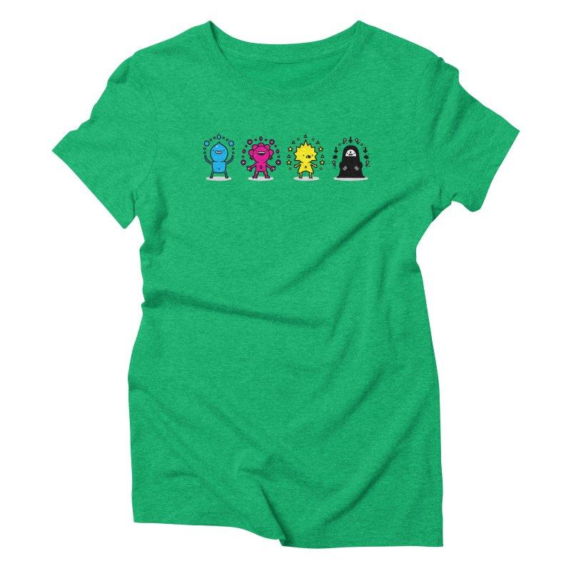 CMYK Women's Triblend T-Shirt by Randyotter