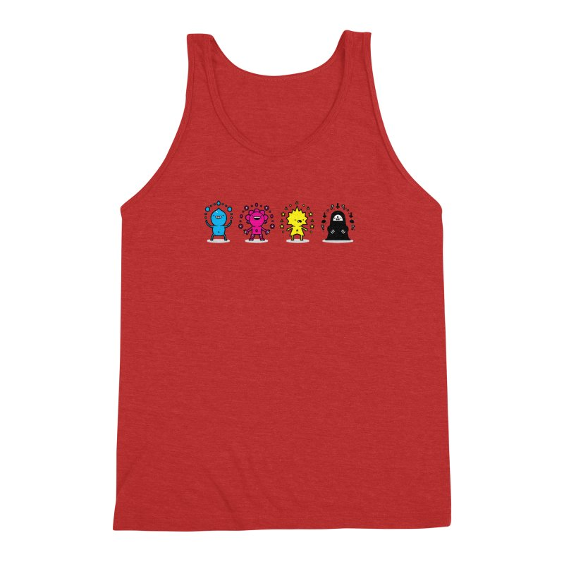 CMYK Men's Triblend Tank by Randyotter