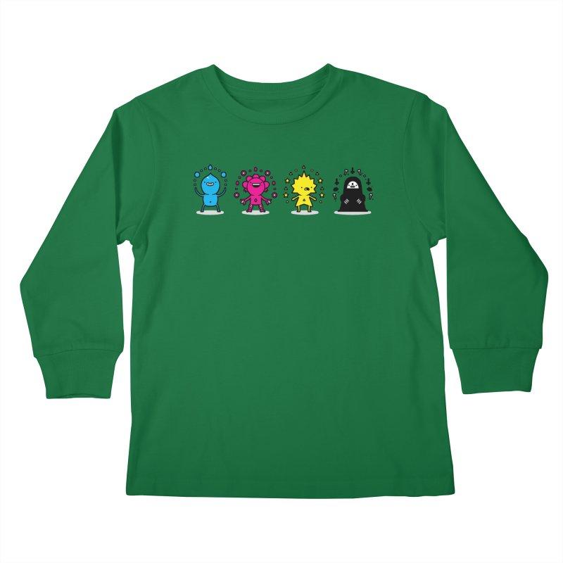 CMYK Kids Longsleeve T-Shirt by Randyotter