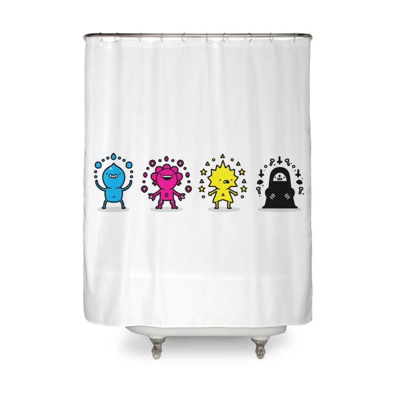 CMYK Home Shower Curtain by Randyotter