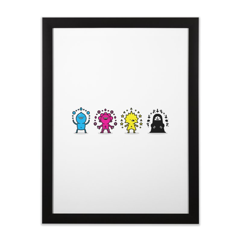 CMYK Home Framed Fine Art Print by Randyotter
