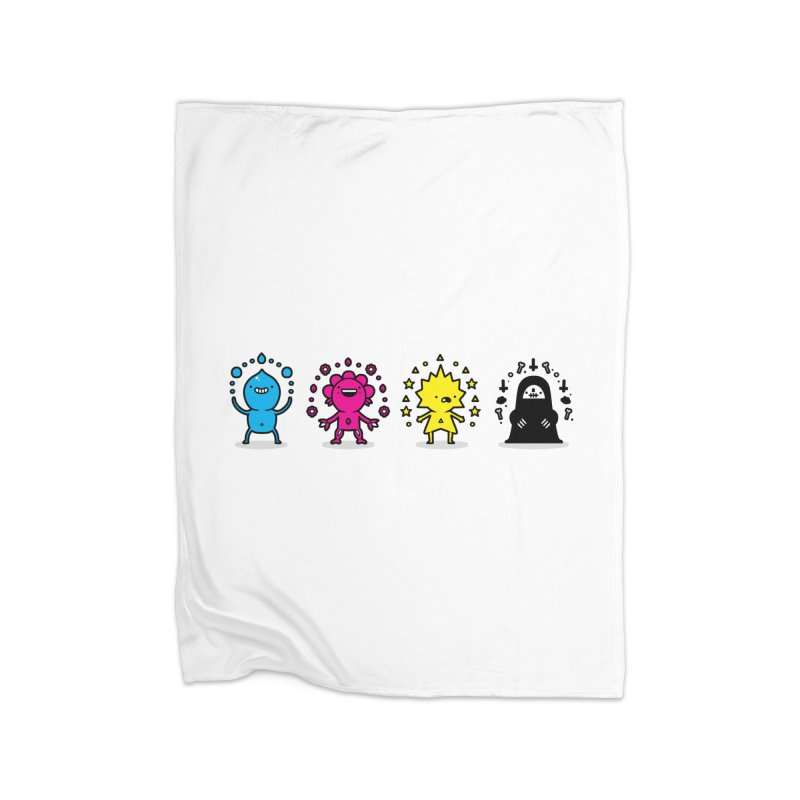 CMYK Home Blanket by Randyotter