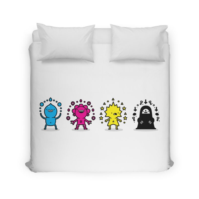 CMYK Home Duvet by Randyotter