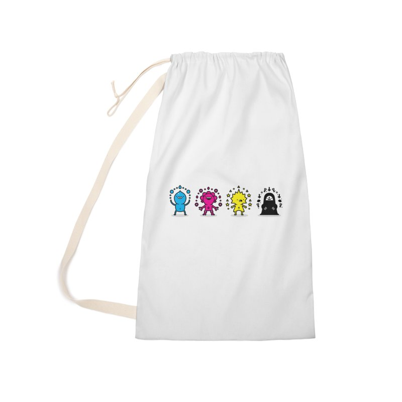 CMYK Accessories Laundry Bag Bag by Randyotter