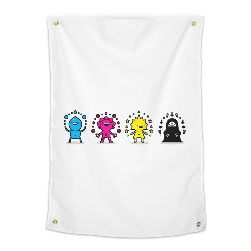 CMYK Home Tapestry by Randyotter
