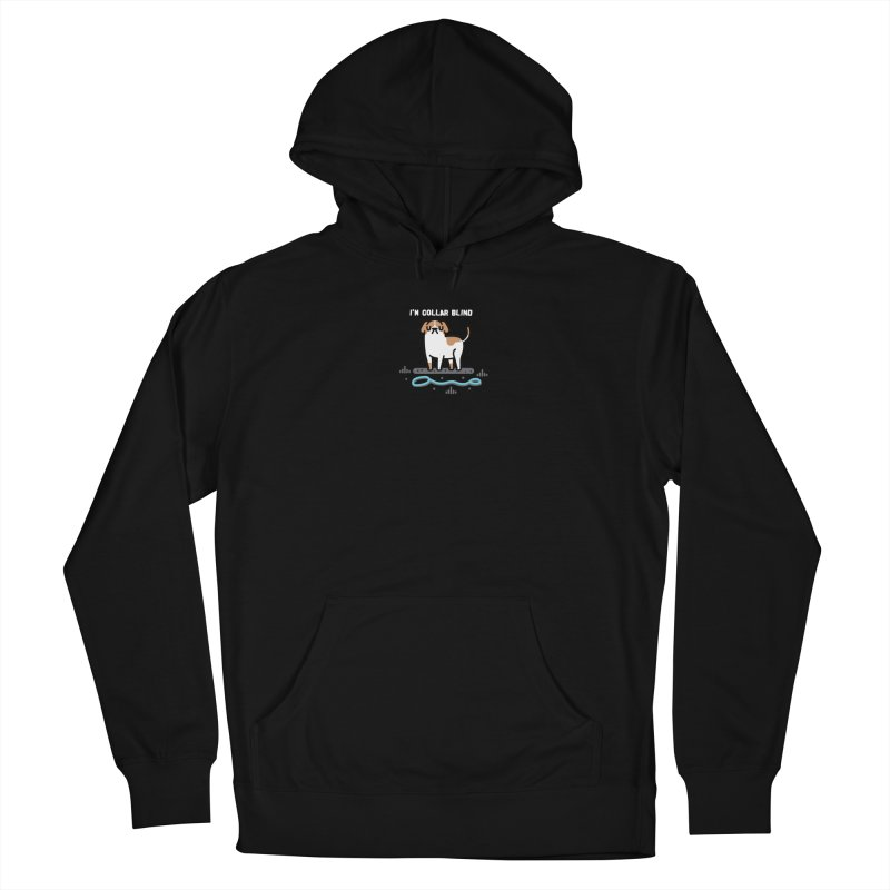 Collar Blind Men's French Terry Pullover Hoody by Randyotter