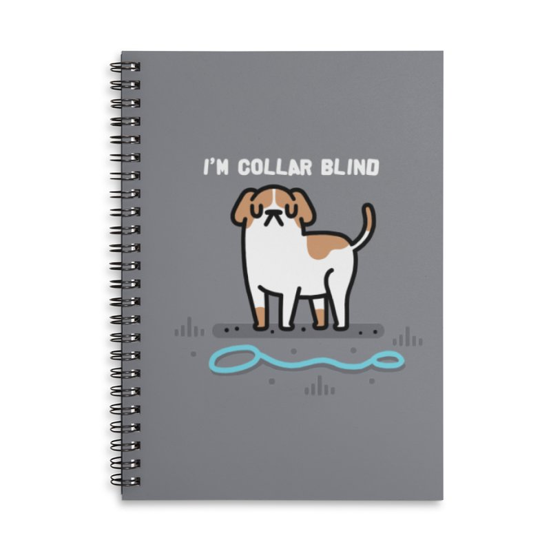 Collar Blind Accessories Lined Spiral Notebook by Randyotter