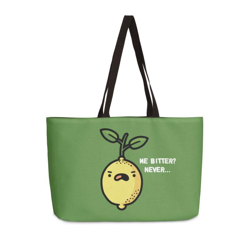 Bitter Accessories Weekender Bag Bag by Randyotter