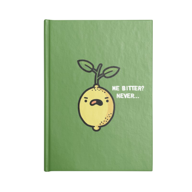 Bitter Accessories Blank Journal Notebook by Randyotter