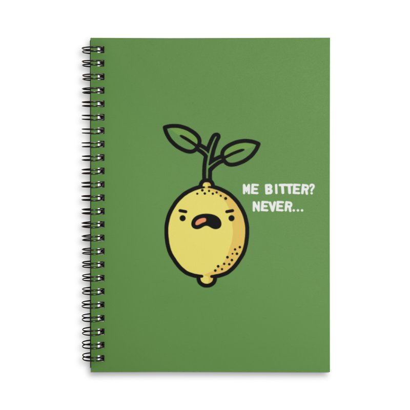 Bitter Accessories Lined Spiral Notebook by Randyotter