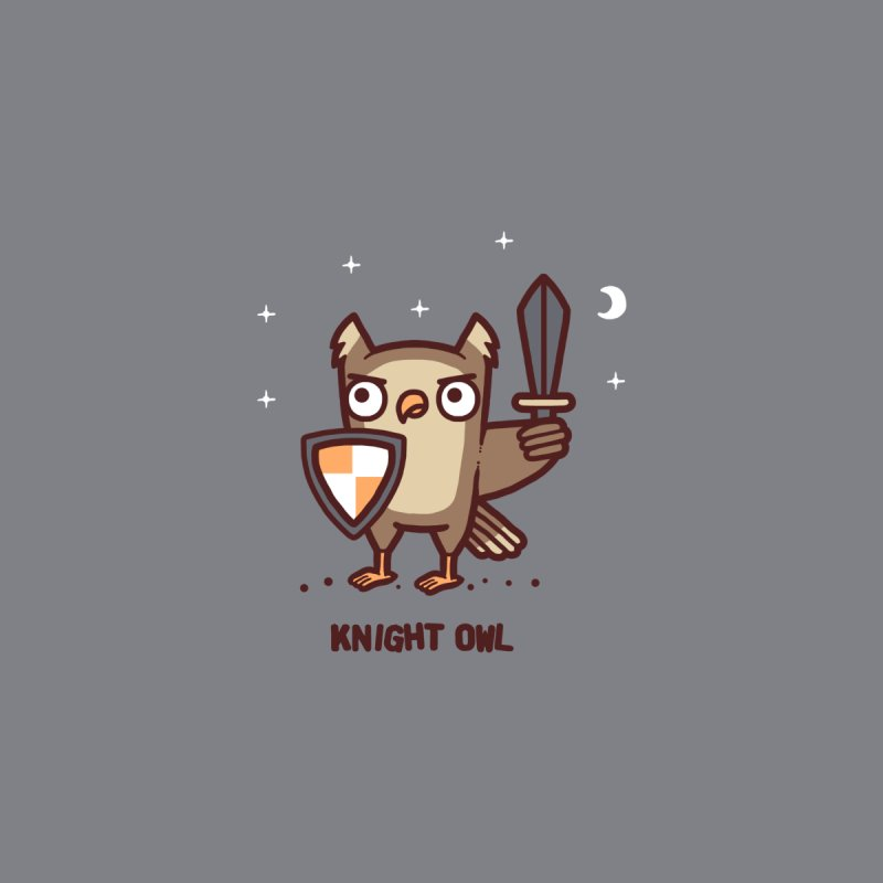 Knight owl Home Shower Curtain by Randyotter