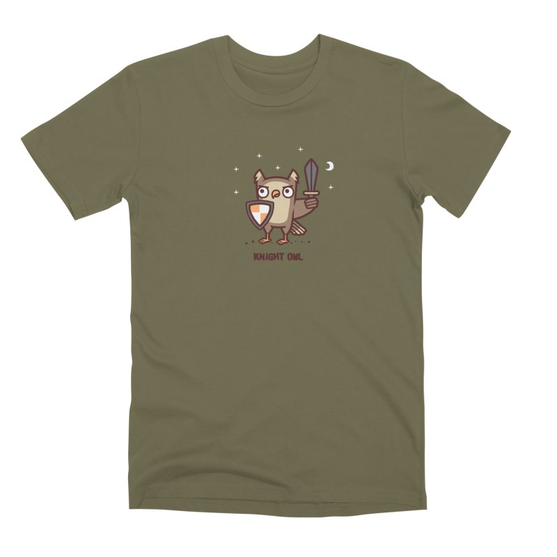 Knight owl Men's Premium T-Shirt by Randyotter