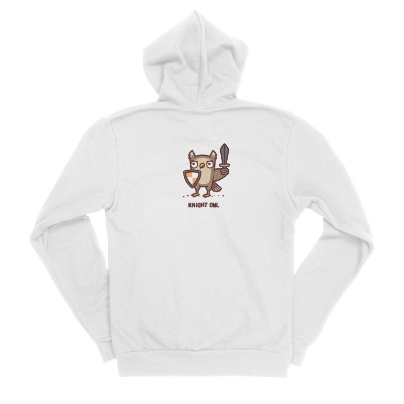 Knight owl Men's Sponge Fleece Zip-Up Hoody by Randyotter