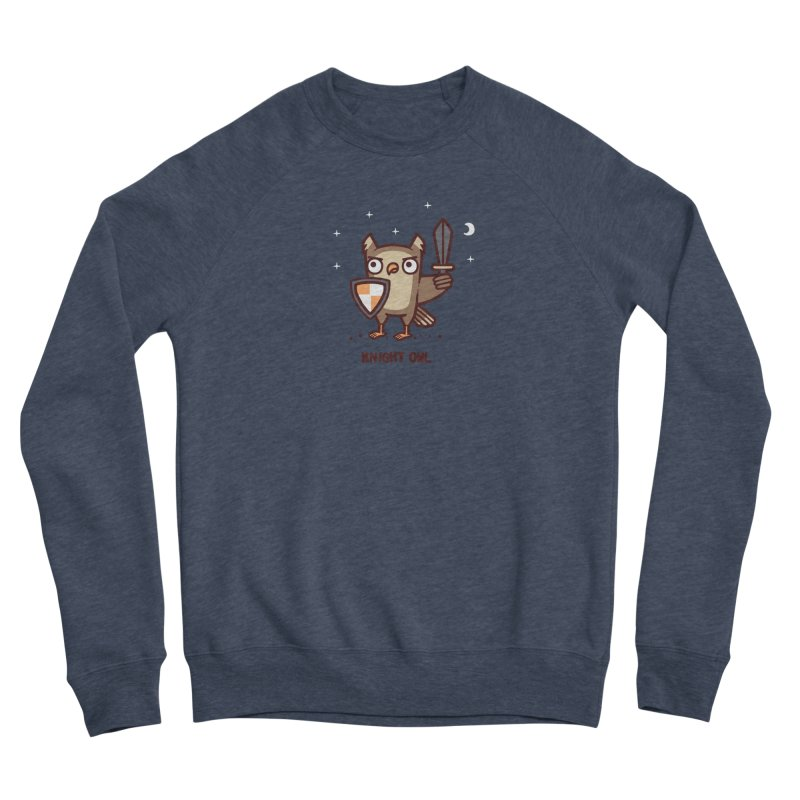 Knight owl Men's Sponge Fleece Sweatshirt by Randyotter