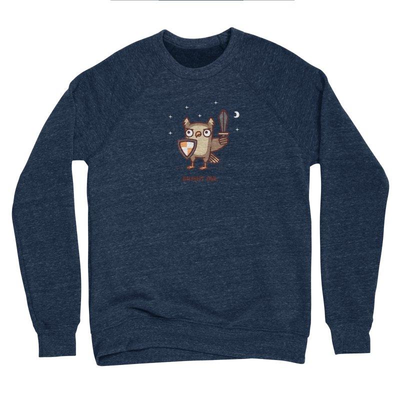 Knight owl Women's Sponge Fleece Sweatshirt by Randyotter