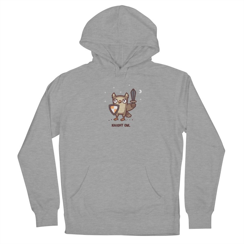 Knight owl Men's French Terry Pullover Hoody by Randyotter