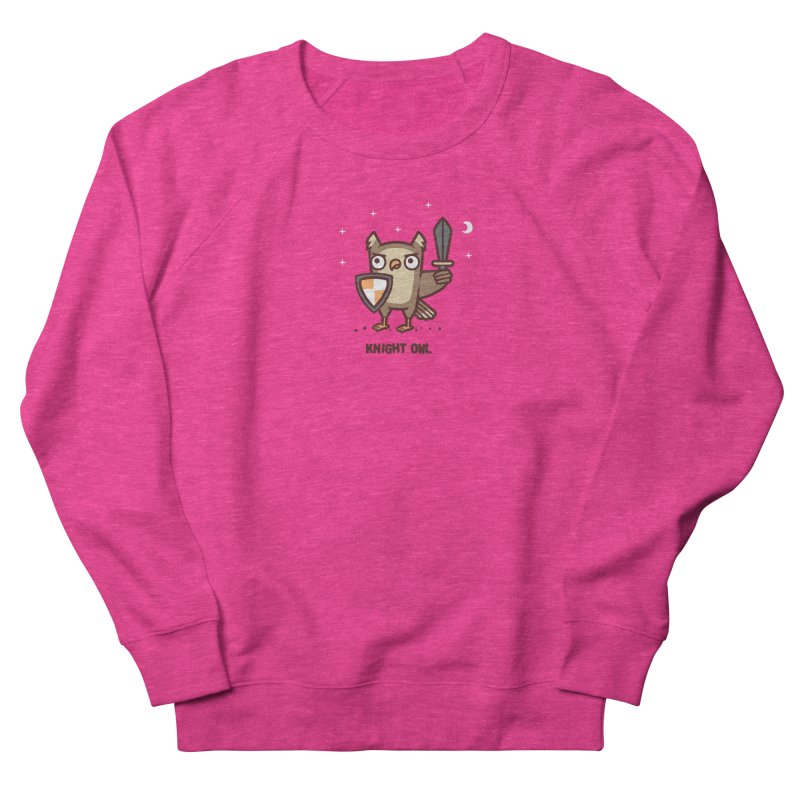Knight owl Men's French Terry Sweatshirt by Randyotter