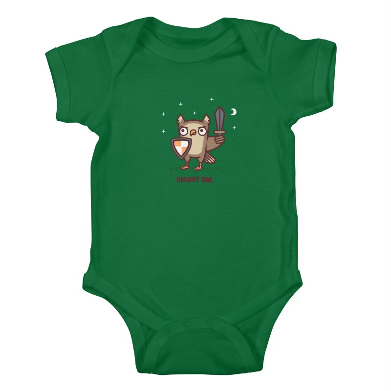 Knight owl Kids Baby Bodysuit by Randyotter