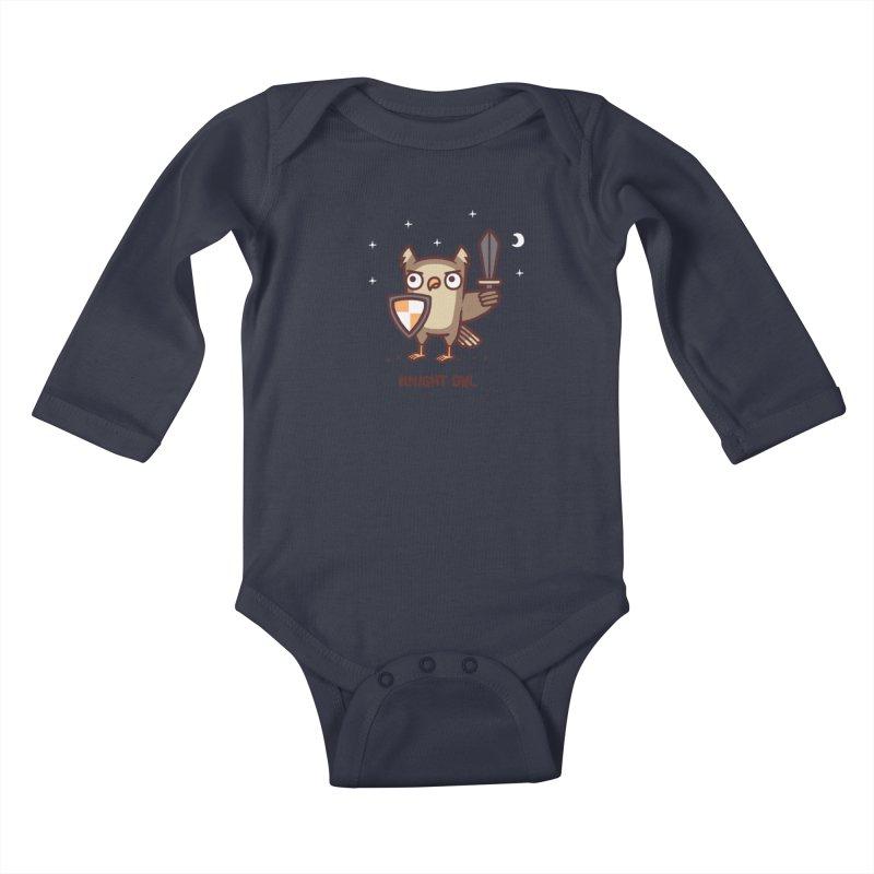 Knight owl Kids Baby Longsleeve Bodysuit by Randyotter