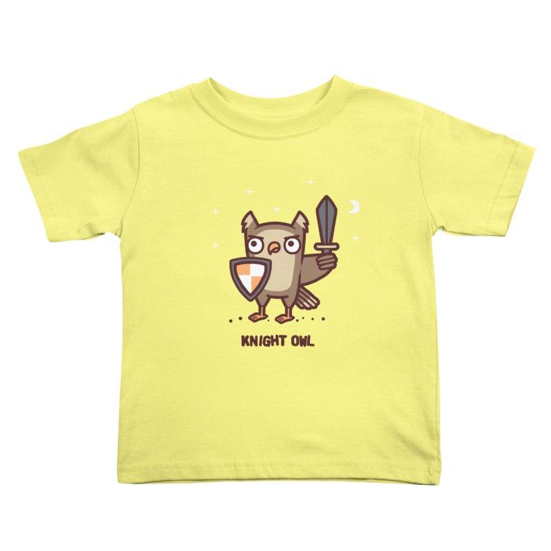 Knight owl Kids Toddler T-Shirt by Randyotter