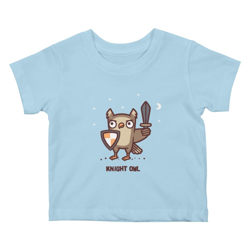 Knight owl Kids Baby T-Shirt by Randyotter