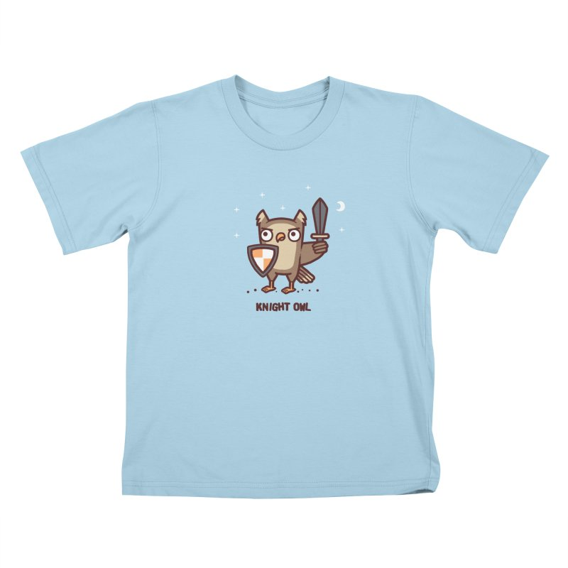 Knight owl Kids T-Shirt by Randyotter