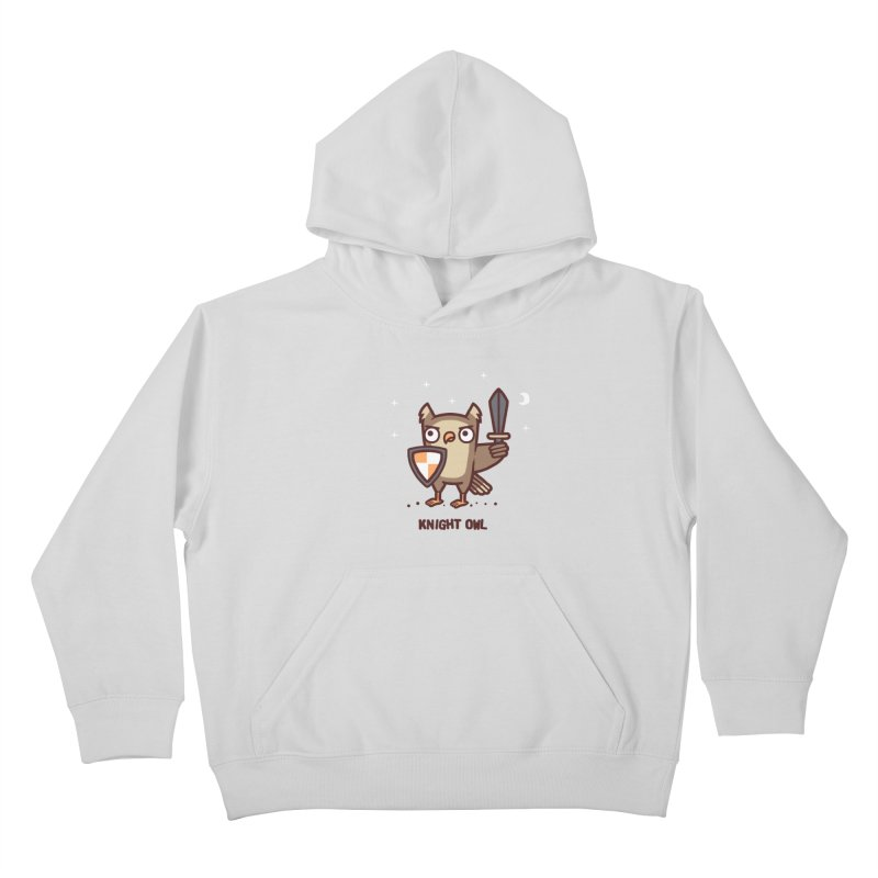 Knight owl Kids Pullover Hoody by Randyotter