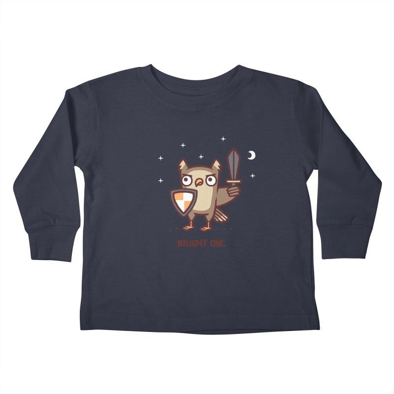 Knight owl Kids Toddler Longsleeve T-Shirt by Randyotter